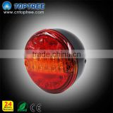 4 inch round LED Trailer Tail Light 12v 24v LED Bus Truck Tail Indicator Light LED Tail Light For Trucks