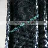 Metallic 3mm Black Sequin Aluminum Mesh Cloth