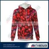 Gym active customized cotton fleece hoodies rugby hockey hooded sweatshirts athletic sublimation team sweaters suits