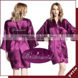 Bridesmaid robe Kimono Women Robe Gown Bathrobe silk satin robe PL002