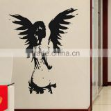 Angelic Angel Wall Wings Sticker Wall Art Decal Sticker Transfer Removable Vinyl
