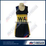 sporting colorful netball dress with full sublimation