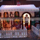 Hot sale event decoration inflatable christmas house
