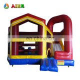 5 in1 combo vinyl inflatable castle / new outdoor playground inflatable castle bouncy castle