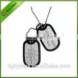 chrome plated cheap dog tag with covering rubber