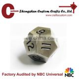 2016 popular 12 sides metal Custom blank dice