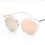 Women upscale retro transparent block sunglasses