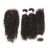 Aligned Weave 10inch - 20inch For Cuticle Aligned Black Women Brazilian Curly Human Hair Tangle Free