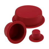 Plastic pipe wide flange tapered plug for hydraulic parts