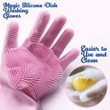 Magic Silicone Gloves With Wash Scrubber ,Reusable Brush Silicone Dish Scrubber Heat Resistant Gloves Kitchen Tool For Cleaning  whatsapp: +8615992856971