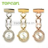 Topearl Jewelry Latest Design Quartz Pocket Watch Pin Brooch Nurse Watch Pocket Watch in Bulk LPW616