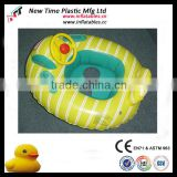 pvc inflatable baby swim chair with handles