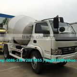 IVECO YUEJIN 4x2 small concrete mixer truck, 3-4m3 cement mixer truck price sale in Djibouti