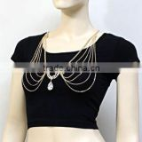 New Women Queen Crystal Belly Chain Bikini Body Chain