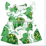 cute baby girls clothes over tortoise print short sleeve dress baby girls clothes kids clothes