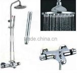 Rozinsanitary NEW Chrome Rain Thermostatic Shower Faucet Bathroom Tub Mixer Tap W/ Hand Shower