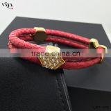 China Manufacturer Wholesale Men Bracelet Jewelry with High Quality Stainless Steel Clasp 100% Python Leather Bracelet