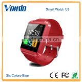 "2016 hottest selling bluetooth smart watch1.44"" touch screen smart watch U8"