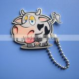 Offset Print Dairy Cor Handbag Ballchain Dog Tag Label