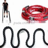 "Power Crossfit Battle Rope Conditioning Rope Exercise Fitness Training rope- 1.5"" width Avail. in 30ft, 40ft, 50ft Length BLACK"