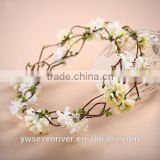Simulation flower garlands of flowers love Korean female sand beach rattan sen bridesmaid wedding tiara honeymoon hair accessori