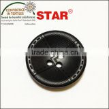 black plastic coat button
