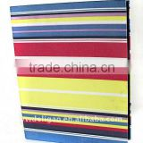 Color Cloth Wrapping Ring Binder Desktop File Holder for Office Stationery Cardboard A4 or FC Size