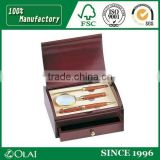 High-end wooden pen box with pull-out drawer
