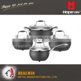 Wholesale cast iron sauce pot cookware set kitchen , kitchen utensil cookware
