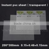 Hot Selling 0.76mm (1.5+0.46+1.5) thickness transparent non-laminating printable sheets for PVC card 3.8kgs/box