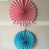 Hot Selling Pink and Blue Color D20cm 90gsm Woodfree Paper Fan Baby Shower Party Hanging Decoration