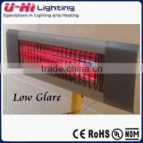 Infrared quartz heater electric heater wall mounted,infrared Patio heater low glare waterproof 1000w 1500w