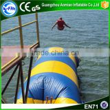 Hot sale blue and yellow lake inflatable water blob for water game                                                                                                         Supplier's Choice