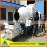 JZC350 mobile diesel concrete pump with mixer trailer                                                                         Quality Choice