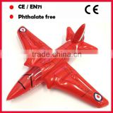 PVC inflatable fighter planes toys with red color for promotion
