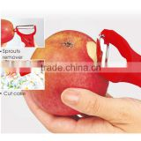 ABS+S/S+PS 15*6.5 Kitchen accessories stainless steel fruit peelers/carrot peeler/fruit peeler slicer