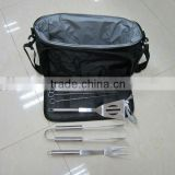 10 pcs bbq tool packed into cooler bag