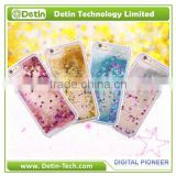 Flowing Glitter phone cover for iphone 6 PC Liquid Hard Case for iphone 6 back case cover