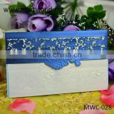 latest chinese classic paper-cut unique wedding invitation greeting card for sale(MWC-028)