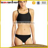 OEM Pure colors thin wrapped chest sexy fashion modest swimwear for mature women                                                                                                         Supplier's Choice