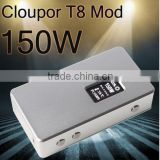Factory newest original style wholeprice Cloupor T8 150W Mod Cloupor t8 e-cigarette