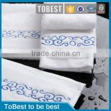 ToBest Hotel supplies wholesale Cotton Terry cloth Soft Rolled 5 star Hotel bathroom hand towels / hotel bathtowel