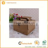 Customized cheap wedding cake boxes,cheese cake box,food packaging box with handle                                                                                                         Supplier's Choice