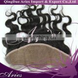 "Lace Frontal Closure 13""*4"" Hand Made Soft Malaysia Virgin Human Hair Lace Frontal BW Body Wave #1B (14"", #1B)"