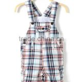 Wholesale newborn baby summer clothing,toddler cotton baby cute mini plaid overalls