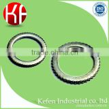 BS4568 electrical wiring accessories & steel pipe fittings & 32mm milled edge circular lock ring