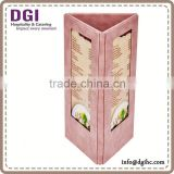 High quality restaurant bar menu holder / transparent plastic folders a4/wine glass plate clips
