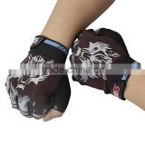 Mens Fingerless Wolf Sports Training Fitness Weight Lifting Breathable Gloves                                                                         Quality Choice