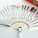 24pcs pearl white professional cosmetic tool kit/makeup brush set wholesale/make up brushes natural hair/tool bag products china