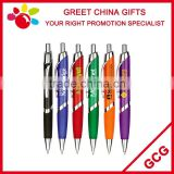 Cheap Promotional Customized Advertising Logo Ball Point Pen with Painted Rubber Grip
